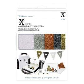 Xcut A5 Adhesive Glitter Sheets (10 stk.) Metallics