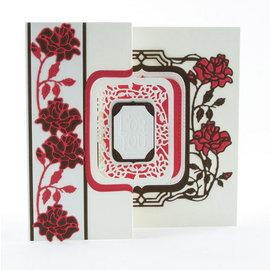Tonic estampage et gaufrage dossier: Flip Flop, Easel & cadre avec des roses