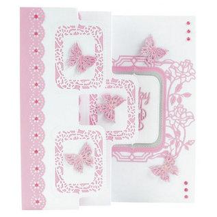 Tonic stempling og prægning mappe: Flip Flop, staffeli og ramme med roser