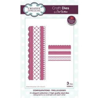 CREATIVE EXPRESSIONS und COUTURE CREATIONS Stamping and embossing stencil: border