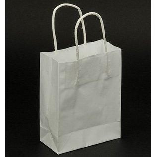 BASTELZUBEHÖR, WERKZEUG UND AUFBEWAHRUNG sacchetti di carta, bianco, 5 pezzi