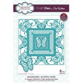 CREATIVE EXPRESSIONS und COUTURE CREATIONS Poinçonnage et gaufrage modèle: papillon cadre décoratif