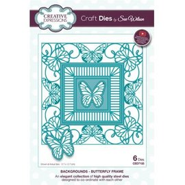 CREATIVE EXPRESSIONS und COUTURE CREATIONS Punching and embossing template: butterfly decorative frame