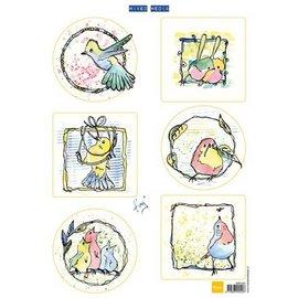 Marianne Design Bilderbogen, pássaros pequenos bonitos