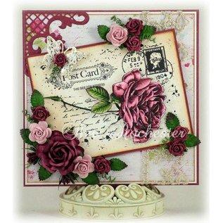Stansning og prægning skabelon: Roll up roser