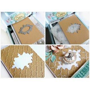 Sizzix Stempling og prægning mappe SET: 4 Oval dekorativ ramme