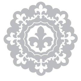 Sizzix Stempling og prægning mappe SET: 3 Runde dekorativ ramme