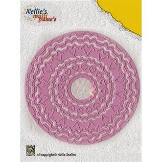 Nellie Snellen Stanzschablonen: 6 verschiedene Zierrahmen rund