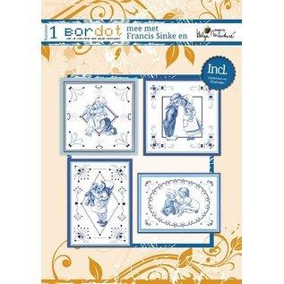 Bücher und CD / Magazines Hobby boek met 12 Borduurpatronen: Delfsblauw
