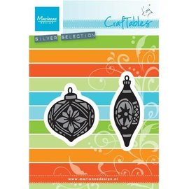 Marianne Design Punching and embossing template: Tiny's ornaments balls