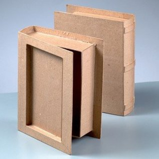 1 kasse i bogform, præget ryg!
