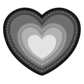 Marianne Design Stansning og prægning skabelon: Basic Heart