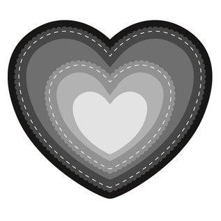 Marianne Design Ponsen en embossing sjabloon: Basic Heart