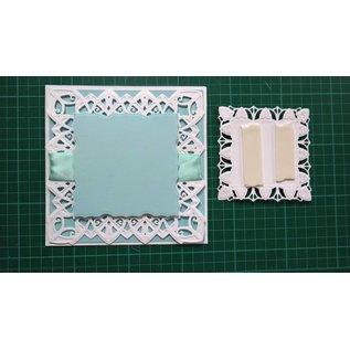 Spellbinders und Rayher Stansning og prægning skabelon: dekorativ ramme rektangel
