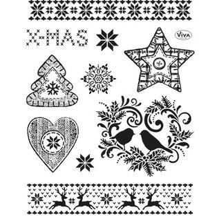 Stempel / Stamp: Transparent Gennemsigtige frimærker: Jul