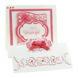 Tonic stempelen en embossing folder: Flip Flop, Ezel & Frame, Cassandra Garde