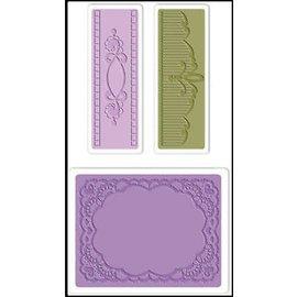 embossing Präge Folder Gaufrage dossiers: Ovale Set dentelle