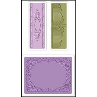 embossing Präge Folder Prägefolder: Oval Lace Set