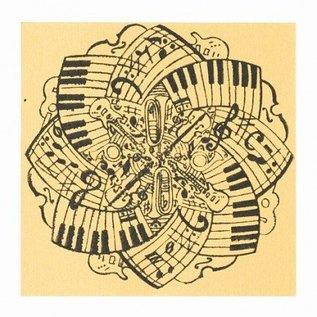BASTELZUBEHÖR, WERKZEUG UND AUFBEWAHRUNG Texture mat Musica, 90 x 90 mm, 1 pezzo