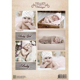 Nellie Snellen Decoupage sheet vintage, baby girls