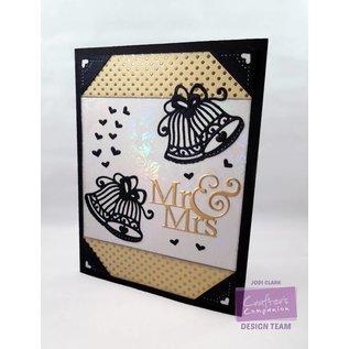 Die'sire Stamping and embossing stencil of Diesire, wedding bell + heart corners