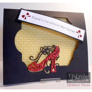 Die'sire Stamping and embossing stencil of Diesire, noble shoes