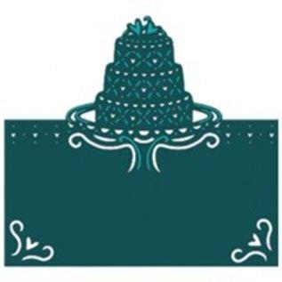 Die'sire Estampillage et gaufrage pochoir Diesire, gâteau, coeur et coins