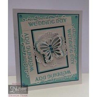 Die'sire Stempling og prægning stencil af Diesire, sommerfugle kærlighed