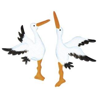 Embellishment in wood stork