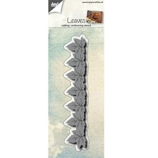 Joy!Crafts / Hobby Solutions Dies Stempling og prægning stencil: grænse med blade