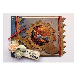 Joy!Crafts / Jeanine´s Art, Hobby Solutions Dies /  Stempling og prægning stencil: grænse med blade