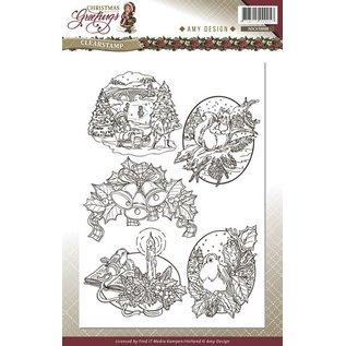 AMY DESIGN Gennemsigtige frimærker, julemotiver