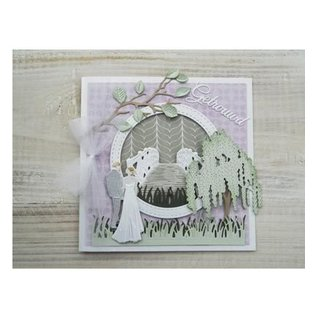 Marianne Design Punching and embossing template: Newlyweds
