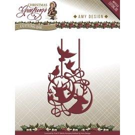 AMY DESIGN AMY DESIGN, Stanz- und Prägeschablonen: Rentier Ornamente