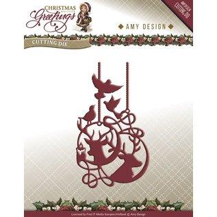 AMY DESIGN Stanz- und Prägeschablonen: Rentier Ornamente