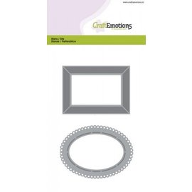 Crealies und CraftEmotions Punching and embossing template: Framework