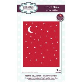 CREATIVE EXPRESSIONS und COUTURE CREATIONS NEW: punching and embossing template: starry
