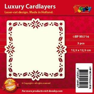 KARTEN und Zubehör / Cards Luxe kaart lay-outs, 3 stuks