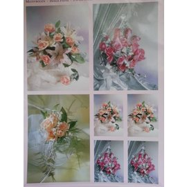 BILDER / PICTURES: Studio Light, Staf Wesenbeek, Willem Haenraets 3D Die cut sheets + 1 background sheets: bridal bouquets