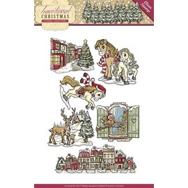 Yvonne Creations NYHED Transparent stempel: Christmas