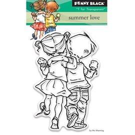 Penny Black selos transparentes: Amor do verão