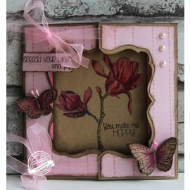 Dutch DooBaDoo Template A4: Finestra Carta Arte Card