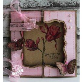 Dutch DooBaDoo Template A4: Janela cartão da arte cartão