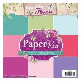 Studio Light pad de papier, de belles fleurs