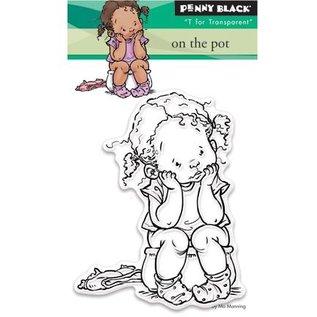 Penny Black Transparent stamp: On the pot