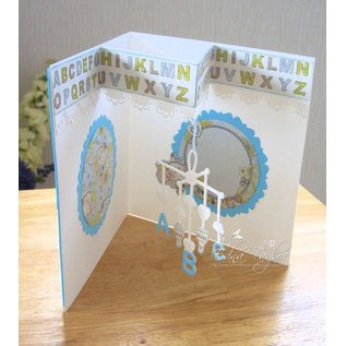 Tonic Punching and embossing template: Baby Mobile