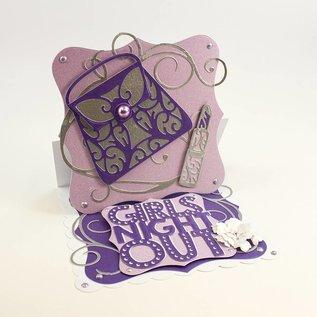 Tonic Stanz- und Prägeschablone: Rococo Stylish Handbag