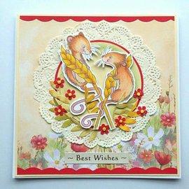 Wild Rose Studio`s Gennemsigtige frimærker: 2 søde mus