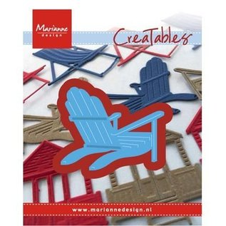 Marianne Design Punching and embossing template: deckchair / beach chair