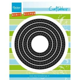 Marianne Design Punching and embossing template: BASIC Passe partouts / Circles